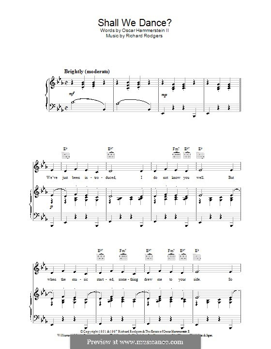 Shall We Dance? (from The King and I): para vocais,piano ou guitarra by Richard Rodgers