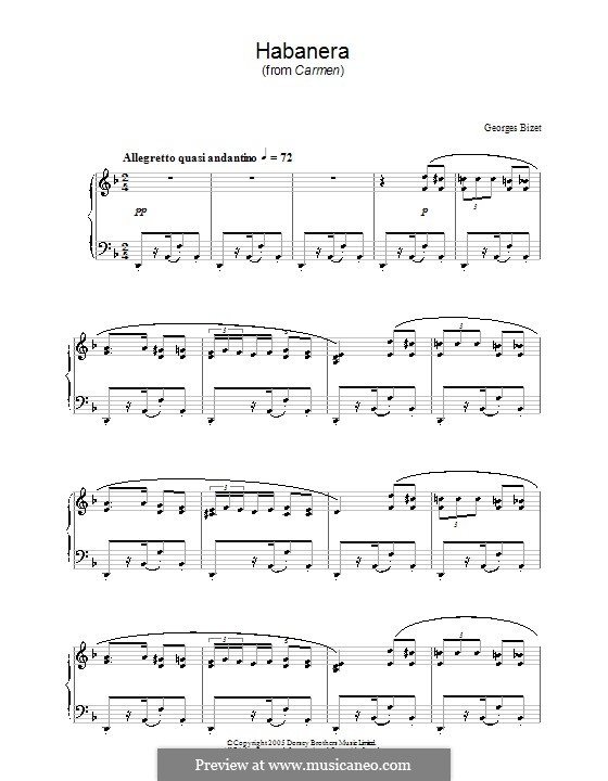 Habanera: Para Piano by Georges Bizet