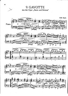 Gavotte: In G Major, for piano by Christoph Willibald Gluck