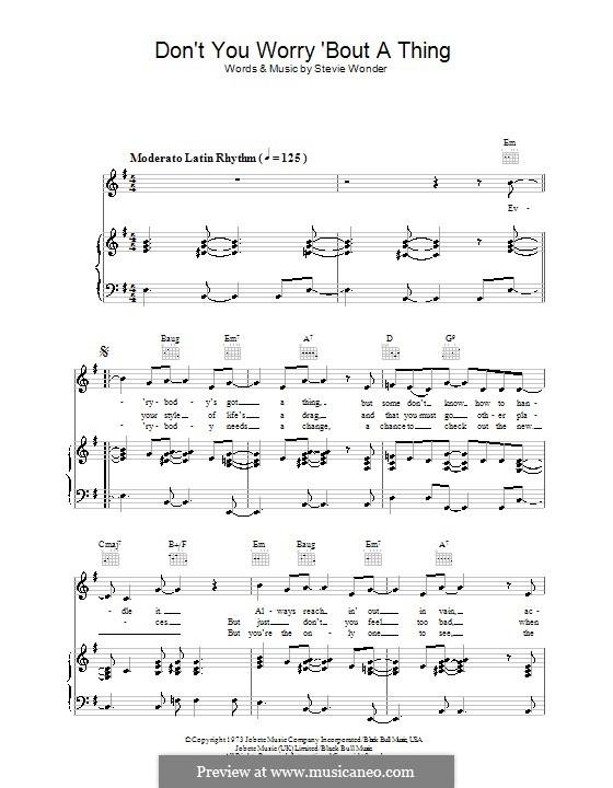 Piano-vocal version: Para vocais e piano (ou Guitarra) by Stevie Wonder