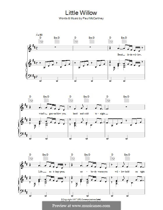 Little Willow: Para vocais e piano (ou Guitarra) by Paul McCartney