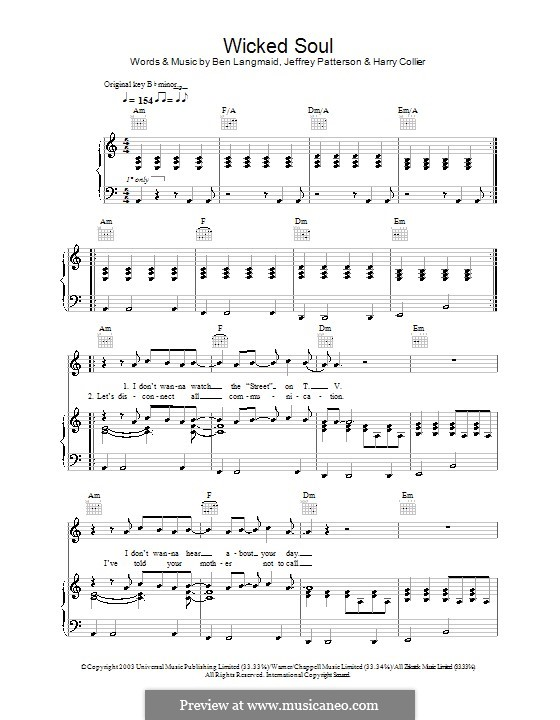 Wicked Soul (Kubb): Para vocais e piano (ou Guitarra) by Ben Langmaid, Harry Collier, Jeffrey Patterson
