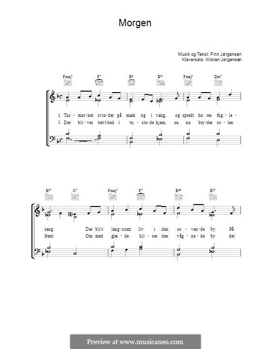 Morgen: Para vocais e piano (ou Guitarra) by Finn Jørgensen