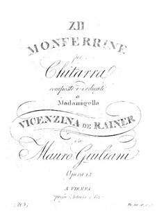 Dodici Monferrine, Op.12: Dodici Monferrine by Mauro Giuliani