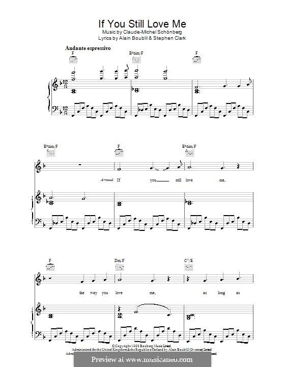 If You Still Love Me: Para vocais e piano (ou Guitarra) by Claude-Michel Schönberg