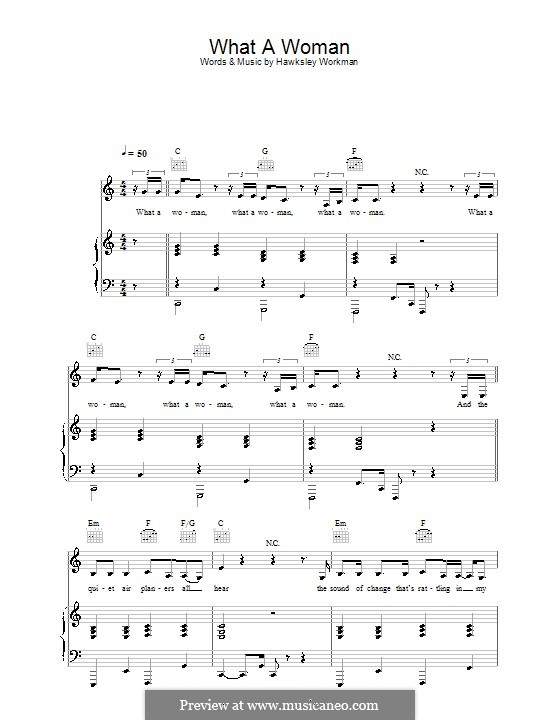 What a Woman: Para vocais e piano (ou Guitarra) by Hawksley Workman