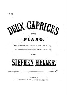 Grand Caprice Brilliant, Op.27: Grand Caprice Brilliant by Stephen Heller