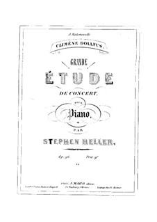 Grande étude de concert, Op.96: Grande étude de concert by Stephen Heller