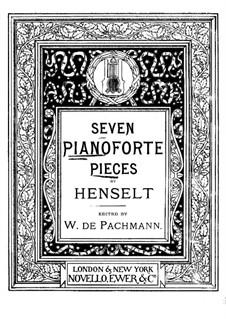 Four Impromptus, Op.37: Inproviso No. 4 by Adolf von Henselt