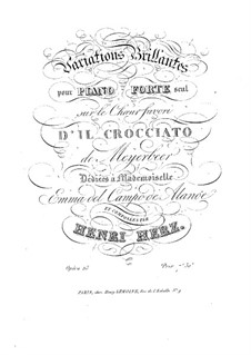 Variations Brilliantes on Theme from 'Il crociato in Egitto' by Meyerbeer, Op.23: Para Piano by Henri Herz