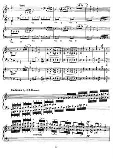Cadenza to Piano Concerto No.20 by Mozart: Cadenza to Piano Concerto No.20 by Mozart by Johann Nepomuk Hummel