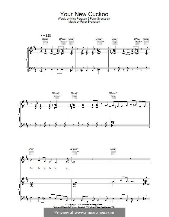 Your New Cuckoo (The Cardigans): Para vocais e piano (ou Guitarra) by Peter Svensson
