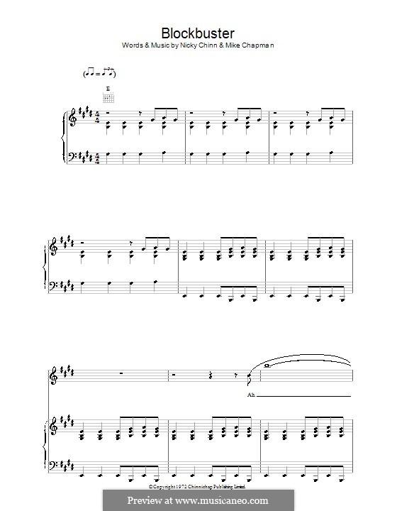 Blockbuster (The Sweet): Para vocais e piano (ou Guitarra) by Mike Chapman, Nicky Chinn
