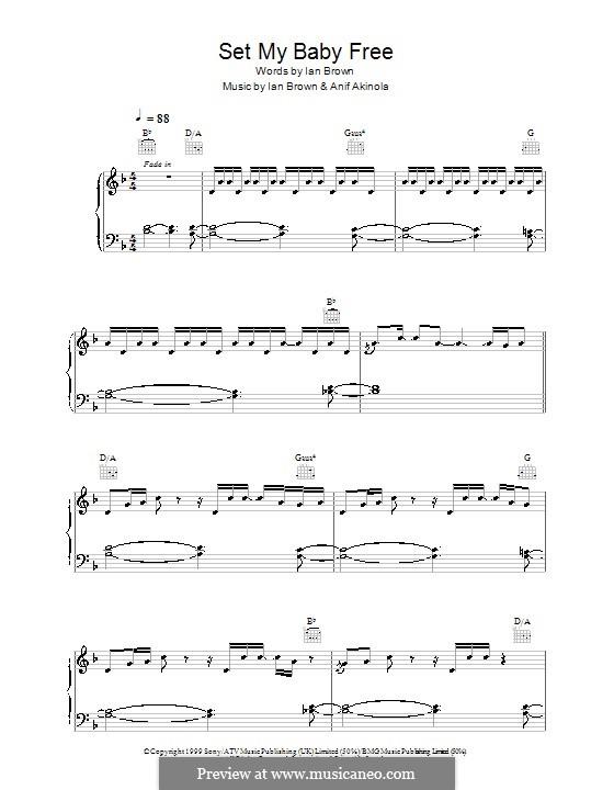 Set My Baby Free (Ian Brown): Para vocais e piano (ou Guitarra) by Anif Akinola