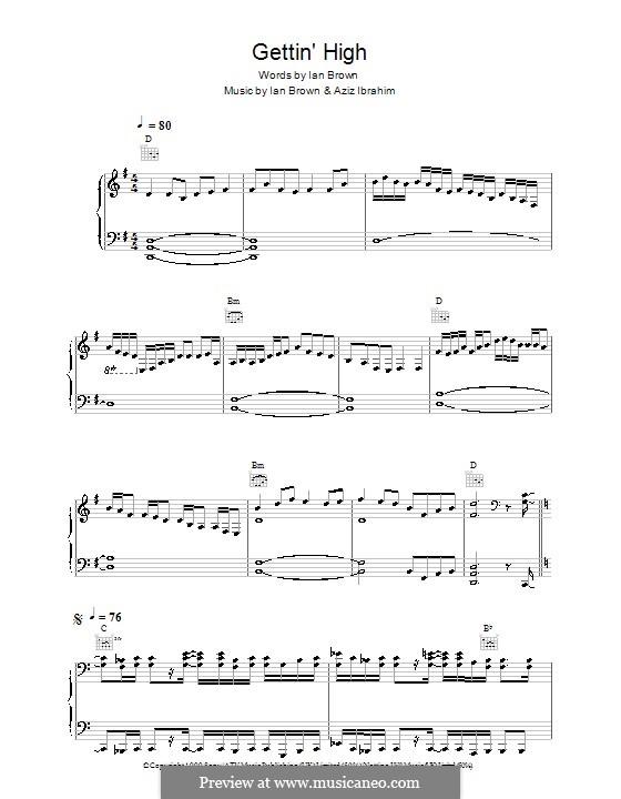 Gettin' High: Para vocais e piano (ou Guitarra) by Aziz Ibrahim