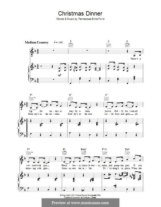 Christmas Dinner: Para vocais e piano (ou Guitarra) by Tennessee Ernie Ford