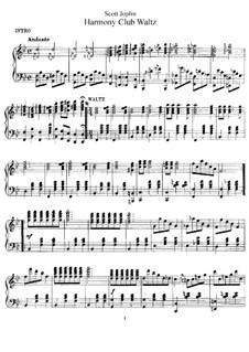 Harmony Club Waltz: Harmony Club Waltz by Scott Joplin