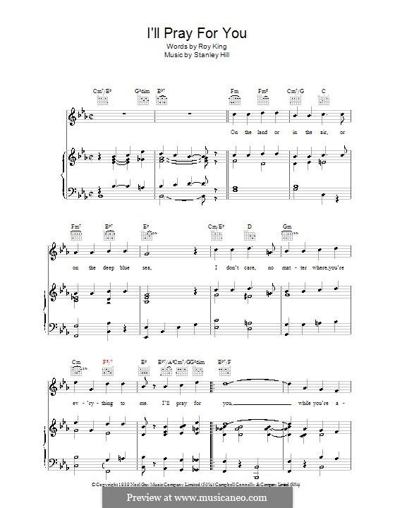 I'll Pray for You: Para vocais e piano (ou Guitarra) by Stanley Hill