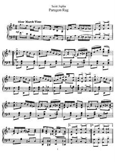 Paragon Rag: Para Piano by Scott Joplin