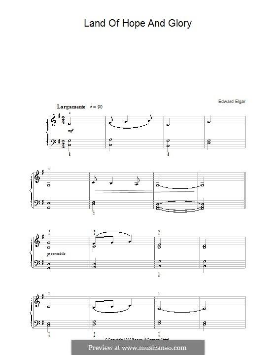 March No.1: Trio, for easy piano by Edward Elgar