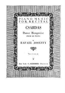 Csárdás No.1 in E Minor: Para Piano by Rafael Joseffy