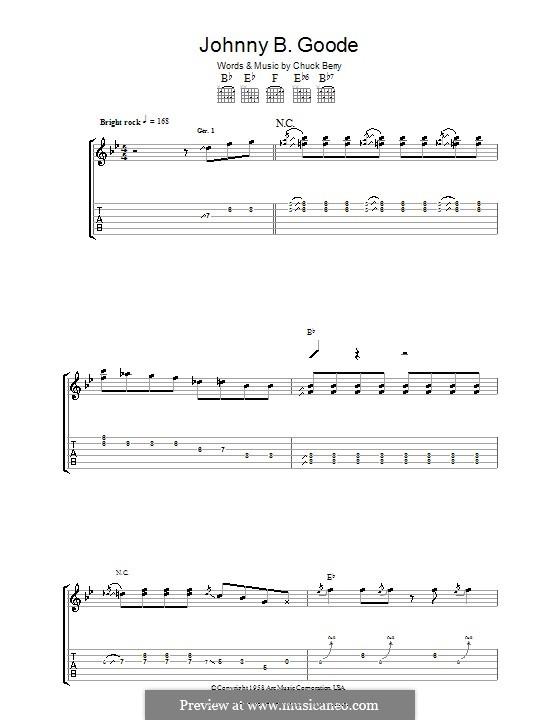 Johnny B. Goode: Para guitarra com guia by Chuck Berry