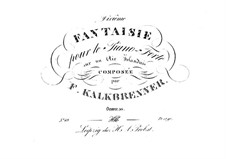 Fantasia on Theme of Irish Aria, Op.50: Fantasia on Theme of Irish Aria by Friedrich Kalkbrenner
