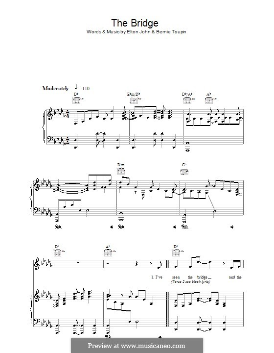 The Bridge: Para vocais e piano (ou Guitarra) by Elton John