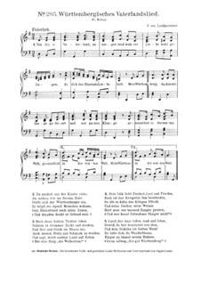 Württembergisches Vaterlandslied: Württembergisches Vaterlandslied by Peter Josef von Lindpaintner