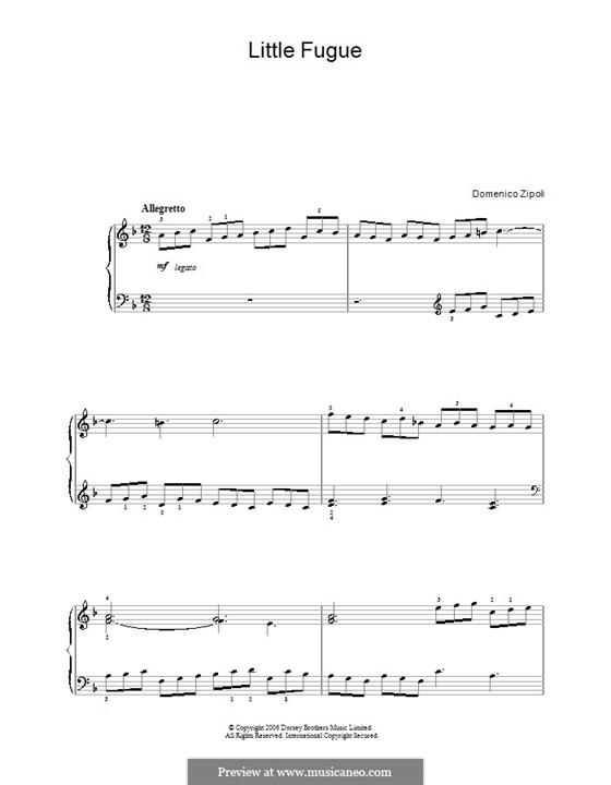 Little Fugue: Para Piano by Domenico Zipoli