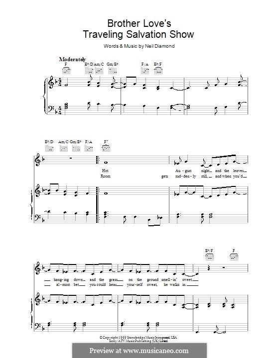 Brother Love's Traveling Salvation Show: Para vocais e piano (ou Guitarra) by Neil Diamond