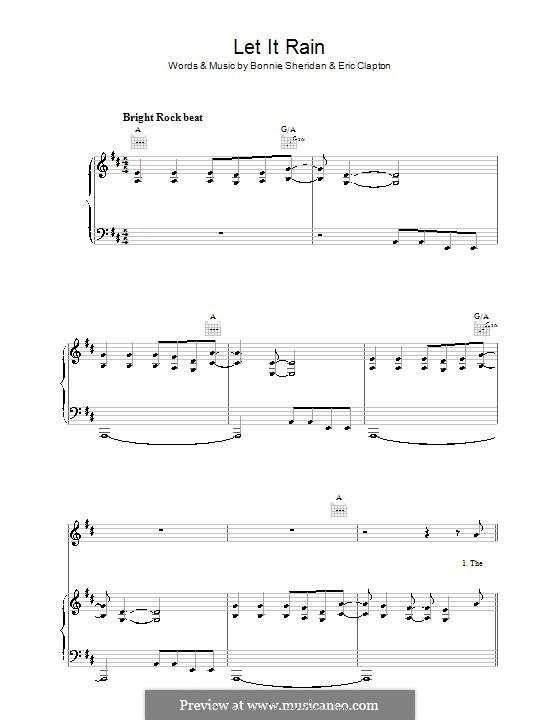 Let It Rain: Para vocais e piano (ou Guitarra) by Bonnie Bramlett