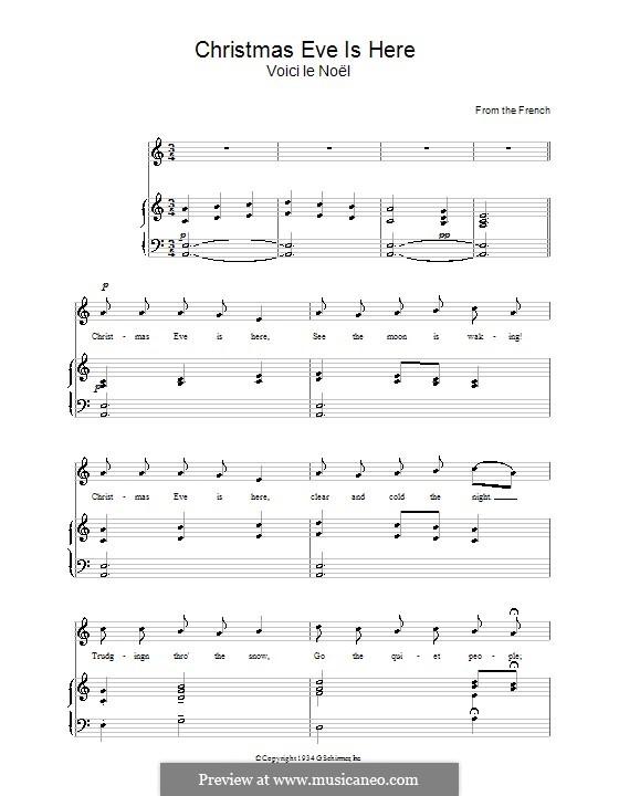 Christmas Eve Is Here: Para vocais e piano by folklore