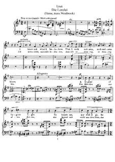 Die Lorelei, S.273: Englischer und deutscher Texte by Franz Liszt