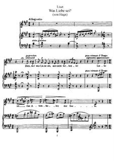 Was Liebe sei, S.288: Version I by Franz Liszt