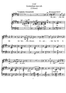 Gestorben war ich, S.308: Gestorben war ich by Franz Liszt