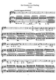 Jhr Gloken von Marling, S.328: Partitura piano-vocal by Franz Liszt