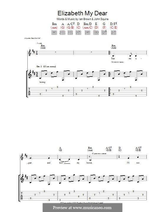 Elizabeth My Dear (The Stone Roses): Para guitarra com guia by Ian Brown, John Squire
