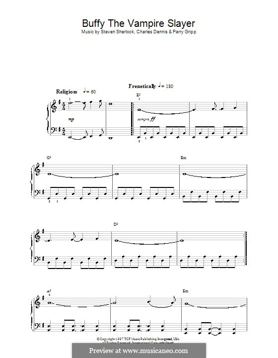 Theme from Buffy the Vampire Slayer (Nerf Herder): Facil para o piano by Charles Dennis, Parry Gripp, Steven Sherlock