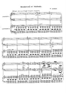 Complete Symphony: Version for voices and two pianos four hands, S.657 by Ludwig van Beethoven