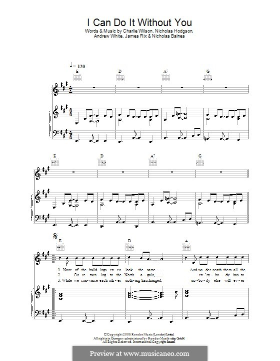 I Can Do It without You (Kaiser Chiefs): Para vocais e piano (ou Guitarra) by Andrew White, James Rix, Nicholas Baines, Nicholas Hodgson, Charles Wilson
