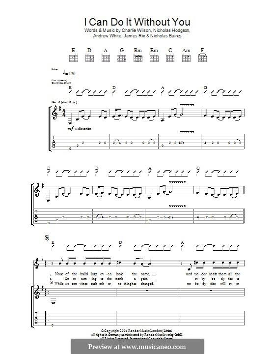 I Can Do It without You (Kaiser Chiefs): Para guitarra com guia by Andrew White, James Rix, Nicholas Baines, Nicholas Hodgson, Charles Wilson