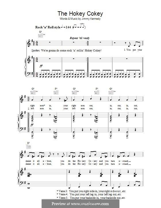 The Hokey Cokey: Para vocais e piano (ou Guitarra) by Jimmy Kennedy