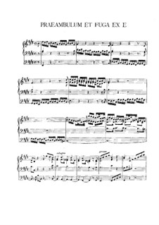 Preamble and Fugue in E Major: Preamble and Fugue in E Major by Vincent Lübeck