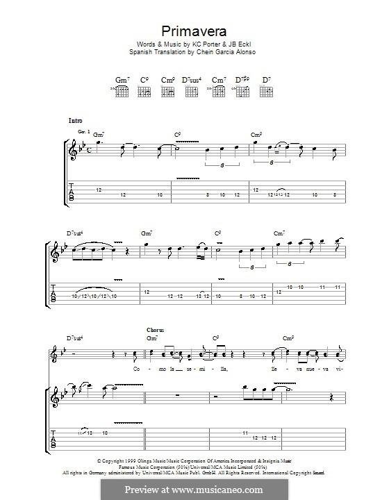 Primavera (Santana): Para guitarra com guia by J. B. Eckl, K. C. Porter