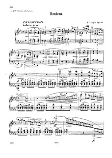 Rondo in E Flat Major, Op.16: Para Piano by Frédéric Chopin