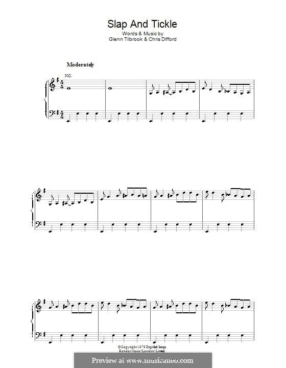 Slap and Tickle (Squeeze): Para vocais e piano (ou Guitarra) by Christopher Difford, Glenn Tilbrook