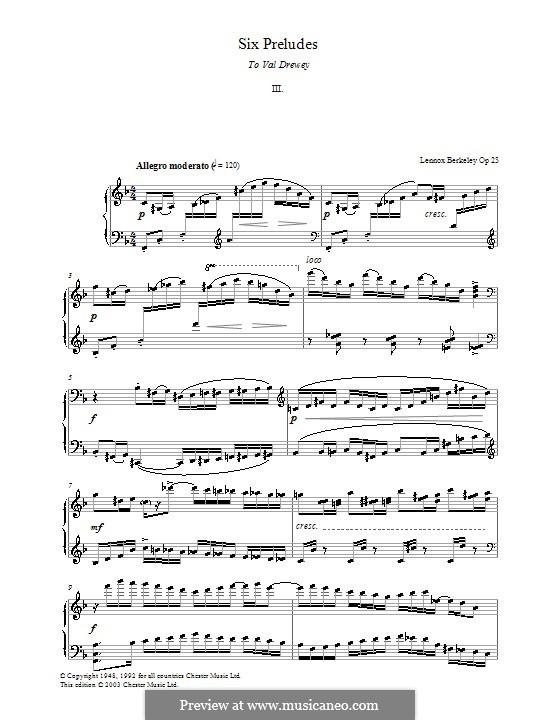 Six Preludes: introdução No.3 by Lennox Berkeley