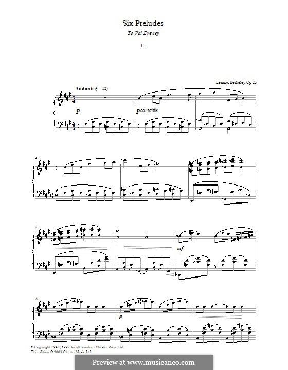 Six Preludes: introdução No.2 by Lennox Berkeley