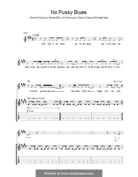 No Pussy Blues (Grinderman): Para Guitarra by Jim Sclavunos, Martyn Casey, Nick Cave, Warren Ellis